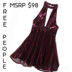 NWT FREE PEOPLE FIT & FLARE STATEMENT DRESS